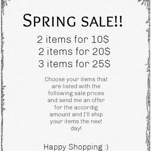 Other - Spring sale